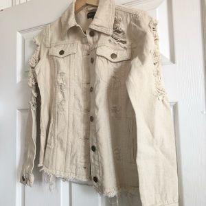 Jackets & Coats - Off white / cream denim jacket